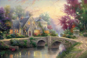 Lamplight Manor Thomas Kinkade Ölgemälde