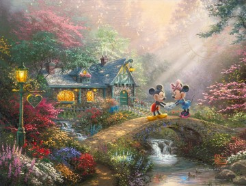 Minnie Kunst - Mickey und Minnie Sweetheart Brücke Thomas Kinkade