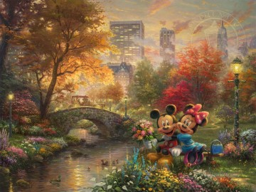Mickey Künstler - Mickey und Minnie Sweetheart Central Park Thomas Kinkade
