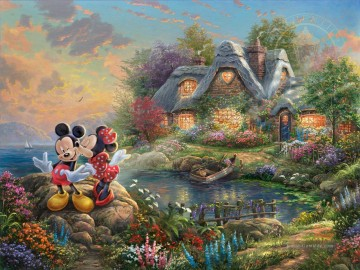 Thomas Kinkade Werke - Mickey und Minnie Sweetheart dopen Thomas Kinkade