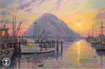 Thomas Kinkade Werke - Morro Bay at Sunset Thomas Kinkade