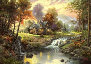 Thomas Kinkade Werke - Mountain Retreat Thomas Kinkade