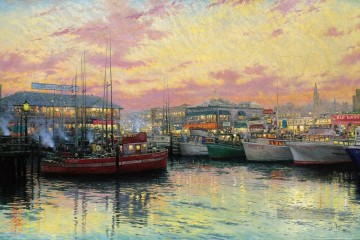 Thomas Kinkade Werke - San Francisco Fishermans Wharf Thomas Kinkade