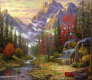 Thomas Kinkade Werke - The Good Life Thomas Kinkade