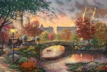 Thomas Kinkade Werke - Herbst in New York Thomas Kinkade