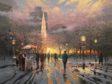 Thomas Kinkade Werke - Boston Feiern Thomas Kinkade