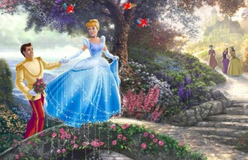 Thomas Kinkade Werke - Cinderella Wishes part2 Thomas Kinkade