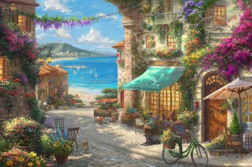 Italian Cafe Thomas Kinkade