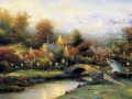 Lamplight Dorf Thomas Kinkade