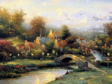 Thomas Kinkade Werke - Lamplight Village Thomas Kinkade