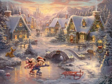 Minnie Kunst - Mickey und Minnie Sweetheart Urlaub Thomas Kinkade