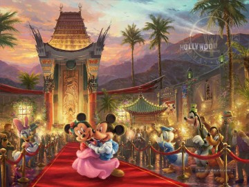 Minnie Kunst - Mickey und Minnie in Hollywood Thomas Kinkade