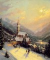 Moonlit Dorf Thomas Kinkade