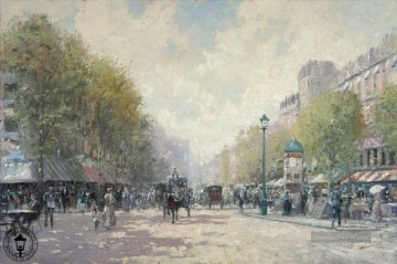 Thomas Kinkade Werke - Morning on the Boulevard Thomas Kinkade