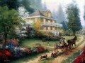 Sunday At Apple Hill Thomas Kinkade