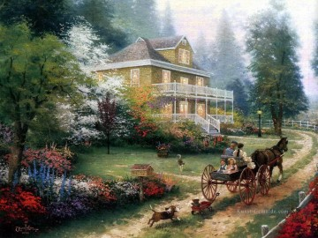 Hill Kunst - Sonntag um Apple Hill Thomas Kinkade