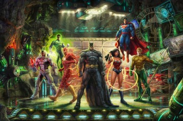 Thomas Kinkade Werke - DIE JUSTICE LEAGUE Hollywood Film Thomas Kinkade