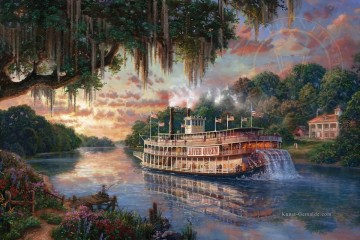 Thomas Kinkade Werke - River Queen Thomas Kinkade