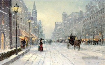 Thomas Kinkade Werke - Winter Dusk Thomas Kinkade