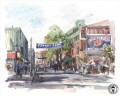 Yawkey Way Aquarell Thomas Kinkade