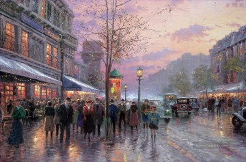 Thomas Kinkade Werke - Boulevard Lights Paris Thomas Kinkade