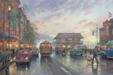 Thomas Kinkade Werke - City by the Bay Thomas Kinkade