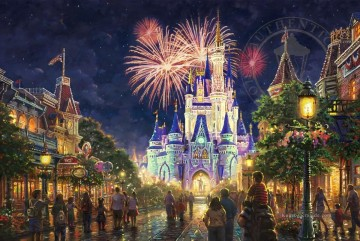 Disney Galerie - Main Street Walt Disney World Resort Thomas Kinkade