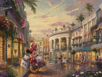 Thomas Kinkade Werke - Minnie rockt die Punkte am Rodeo Drive Thomas Kinkade