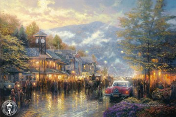 Thomas Kinkade Werke - Mountain Memories Thomas Kinkade