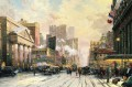 New York Schnee auf Seventh Avenue 1932 Thomas Kinkade
