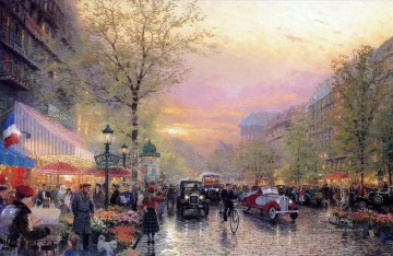 city Kunst - Paris Stadt Lichter Thomas Kinkade