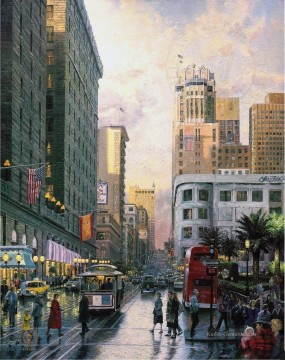 Thomas Kinkade Werke - San Francisco am späten Nachmittag am Union Square Thomas Kinkade