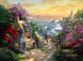 The Village Leuchtturm Thomas Kinkade