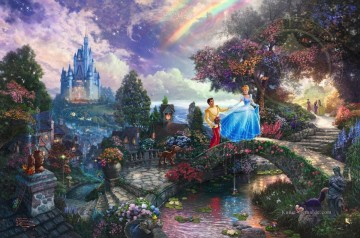 Thomas Kinkade Werke - Cinderella Wishes Upon A Dream Thomas Kinkade