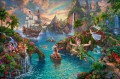 Disney Peter Pan nie landen Thomas Kinkade