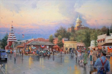 Thomas Kinkade Werke - Main Street Courthouse Thomas Kinkade