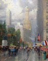 New York Central Park Süd am Sixth Ave Thomas Kinkade