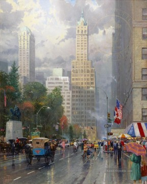 Thomas Kinkade Werke - New York Central Park Süd am Sixth Ave Thomas Kinkade