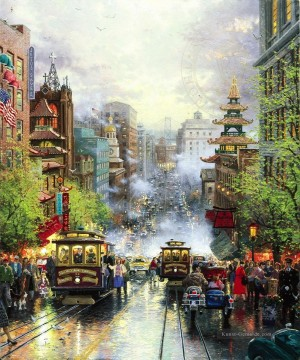 Thomas Kinkade Werke - San Francisco California Street Thomas Kinkade