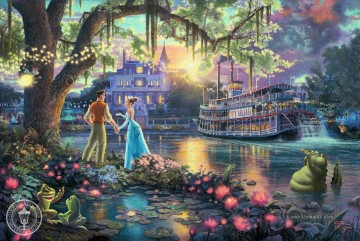 Thomas Kinkade Werke - The Princess and the Frog Thomas Kinkade