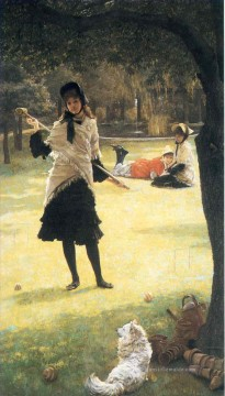 Croquet James Jacques Joseph Tissot Ölgemälde