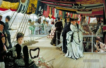 Der Ball auf Shipboard James Jacques Joseph Tissot Ölgemälde