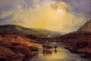 Abergavenny Bridge Monmountshire clearing up after a showery day Landschaft Turner