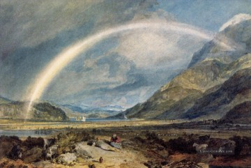 Kilchern Castle with the Cruchan Ben Berge Scotland Noon Landschaft Turner