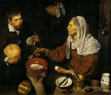 Old Woman Poaching Eggs Diego Velozquez