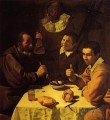 Three Men at a Table aka Luncheon Diego Velozquez