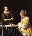 Lady with Her Maidservant Holding a Letter Barock Johannes Vermeer