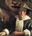 Young Girl with a Flute Barock Johannes Vermeer