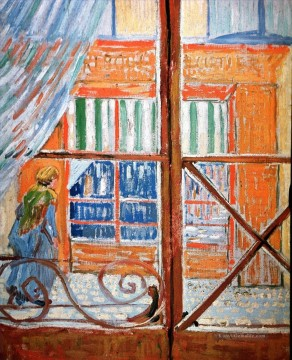 Vincent Van Gogh Werke - A Pork Butcher s Shop Seen from a Window Vincent van Gogh