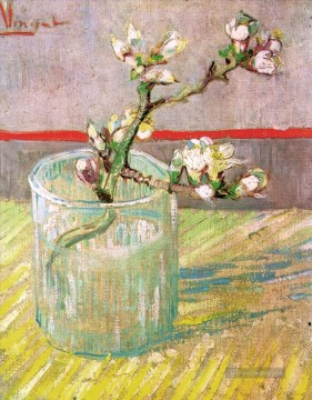 Vincent Van Gogh Werke - Blossoming Almond Branch in a Glass Vincent van Gogh